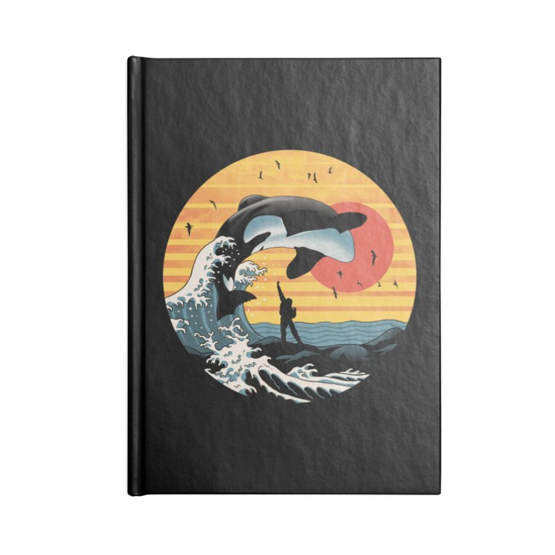 The Great Killer Whale Accessories Blank Journal Notebook by Vincent Trinidad