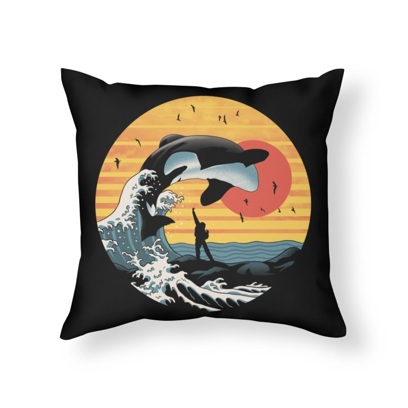 The Great Killer Whale Home Throw Pillow by Vincent Trinidad