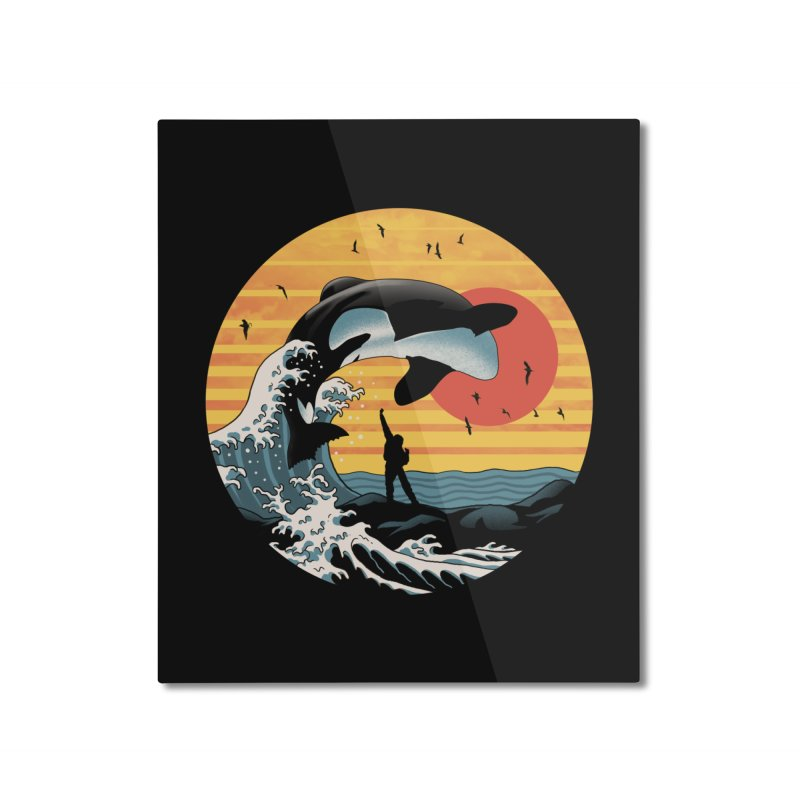 The Great Killer Whale Home Mounted Aluminum Print by Vincent Trinidad