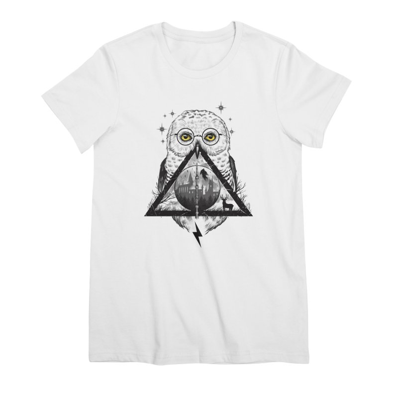 Owls and Wizardry Women's Premium T-Shirt by Vincent Trinidad