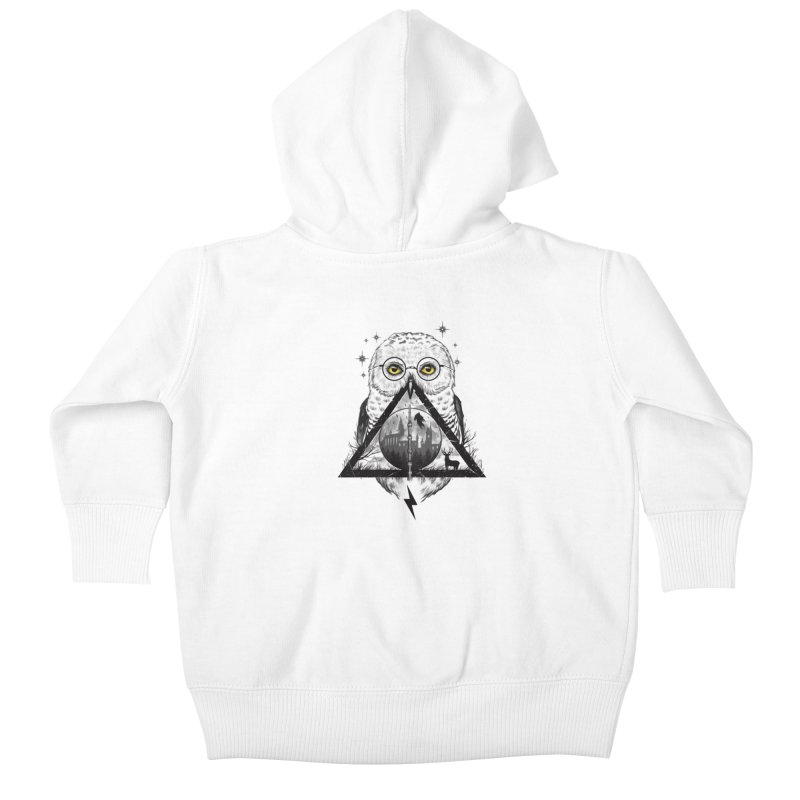 Owls and Wizardry Kids Baby Zip-Up Hoody by Vincent Trinidad