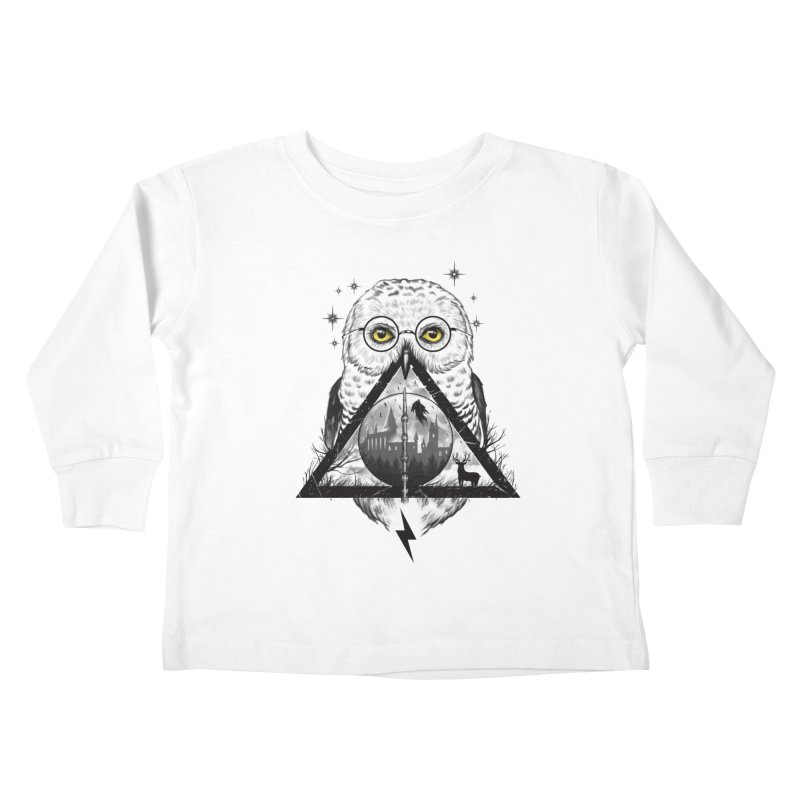 Owls and Wizardry Kids Toddler Longsleeve T-Shirt by Vincent Trinidad