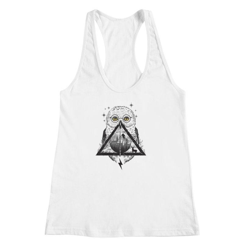 Owls and Wizardry Women's Racerback Tank by Vincent Trinidad