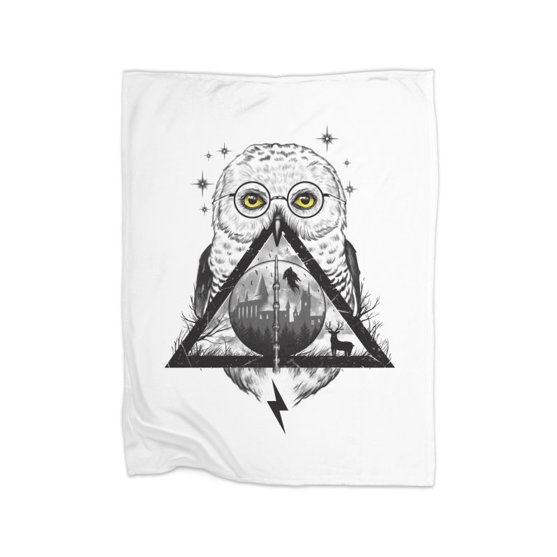 Owls and Wizardry Home Fleece Blanket Blanket by Vincent Trinidad
