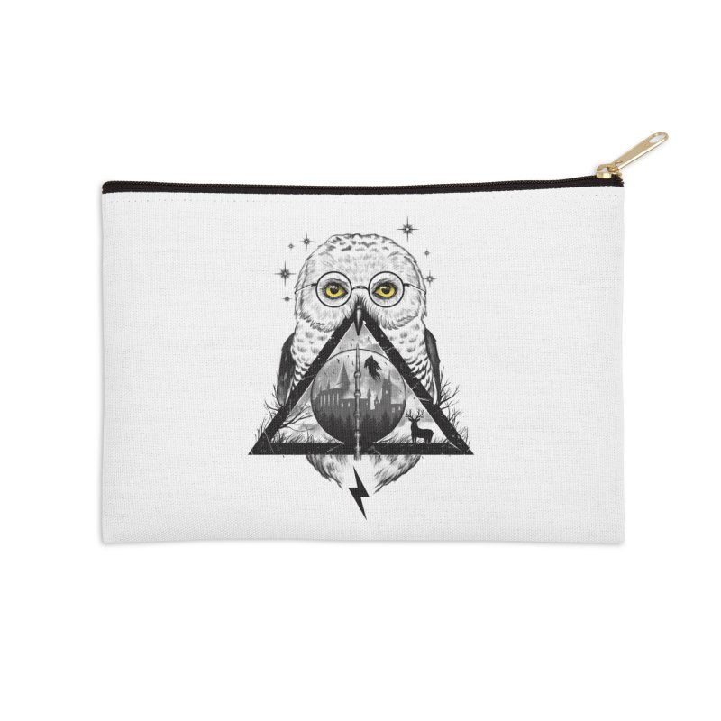 Owls and Wizardry Accessories Zip Pouch by Vincent Trinidad