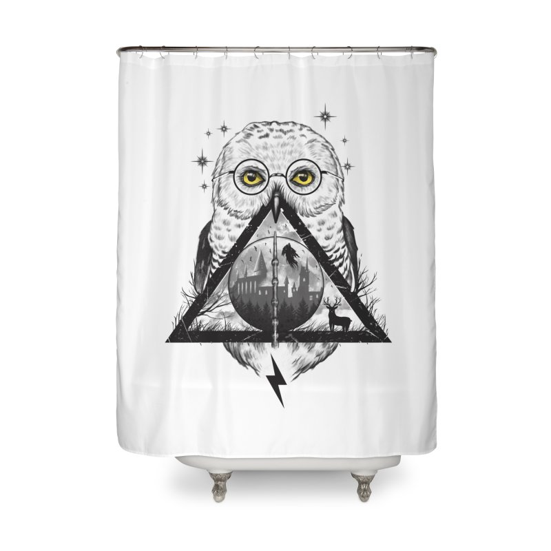 Owls and Wizardry Home Shower Curtain by Vincent Trinidad