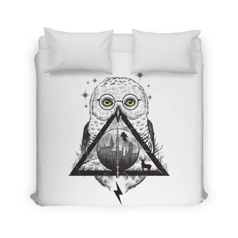 Owls and Wizardry Home Duvet by Vincent Trinidad