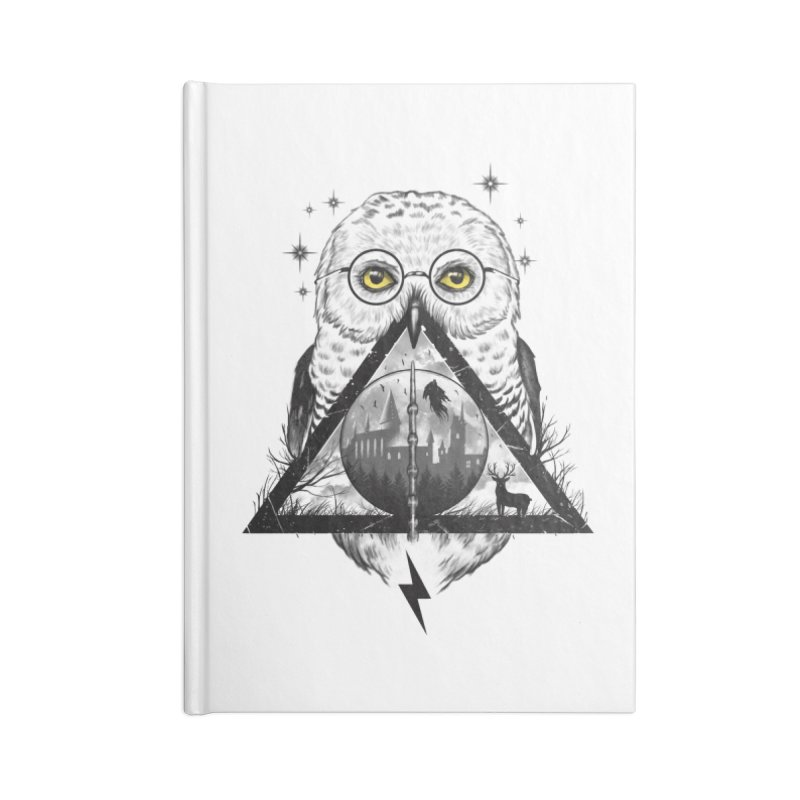 Owls and Wizardry Accessories Blank Journal Notebook by Vincent Trinidad