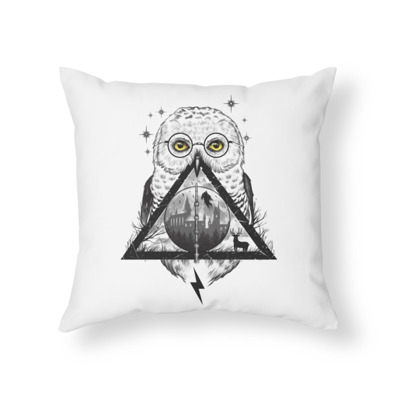 Owls and Wizardry Home Throw Pillow by Vincent Trinidad