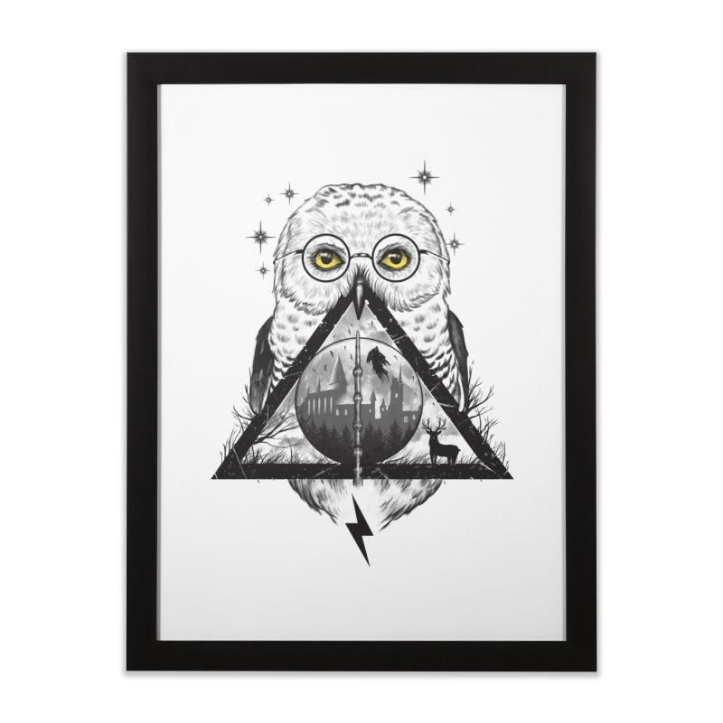 Owls and Wizardry Home Framed Fine Art Print by Vincent Trinidad