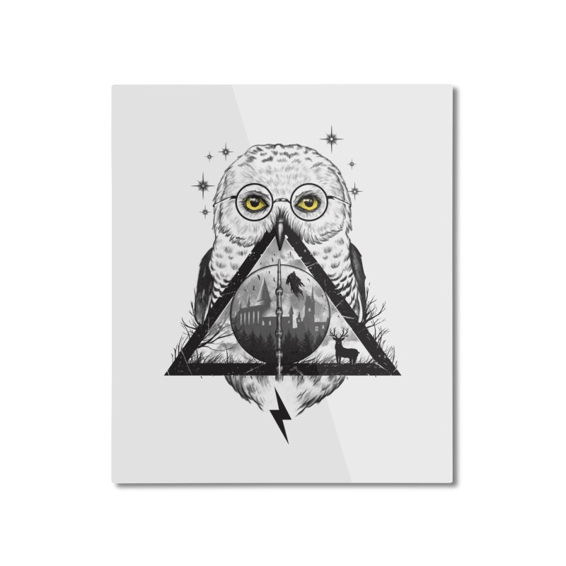 Owls and Wizardry Home Mounted Aluminum Print by Vincent Trinidad