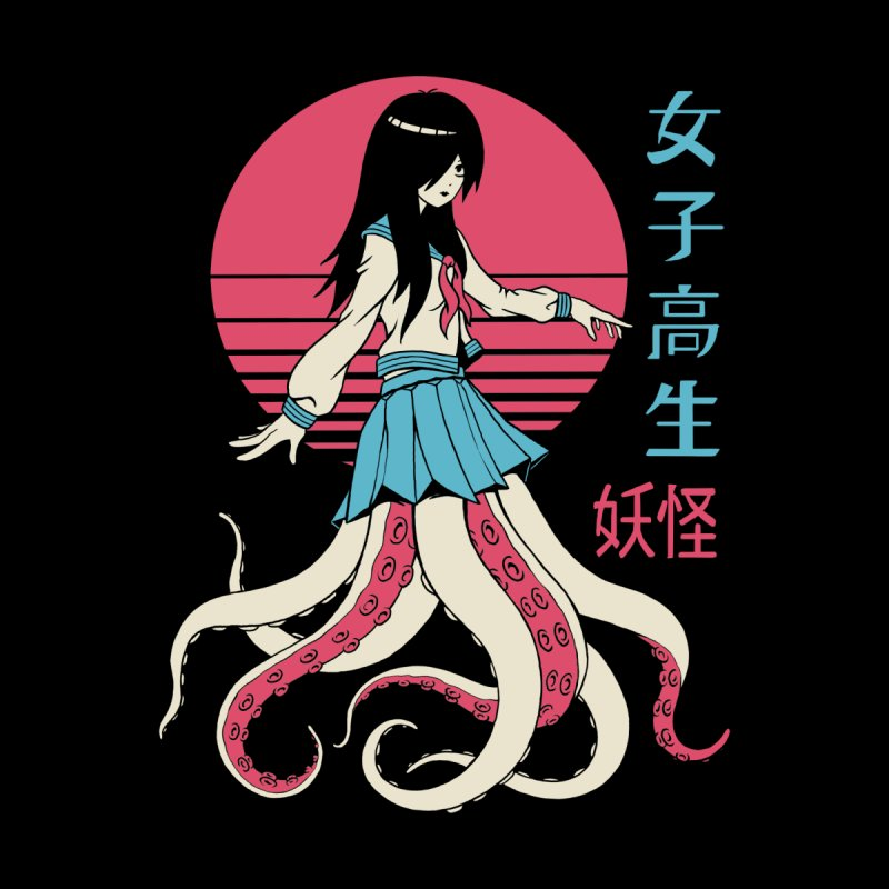 Yokai School Girl Women's T-Shirt by Vincent Trinidad Art