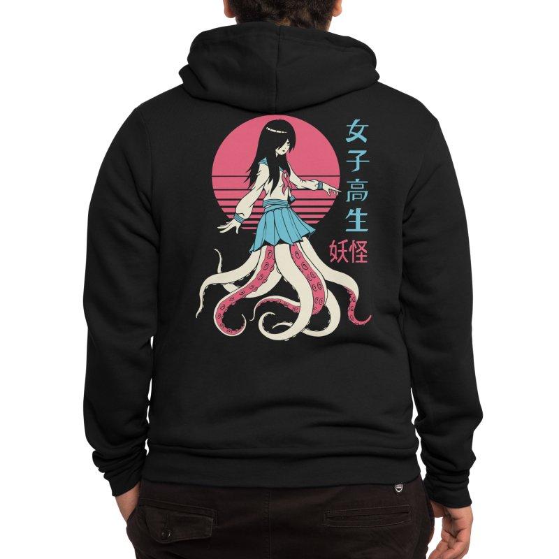 Yokai School Girl Men's Zip-Up Hoody by Vincent Trinidad Art