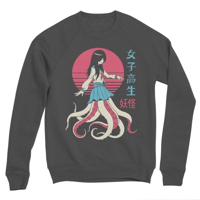 Yokai School Girl Men's Sponge Fleece Sweatshirt by Vincent Trinidad