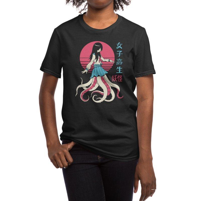 Yokai School Girl Women's T-Shirt by Vincent Trinidad Art