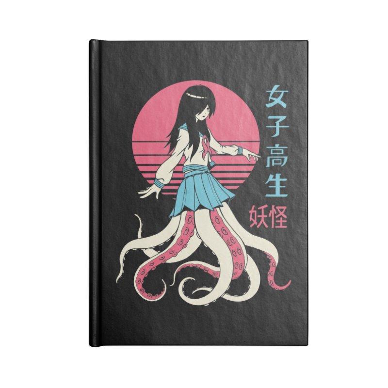 Yokai School Girl Accessories Blank Journal Notebook by Vincent Trinidad