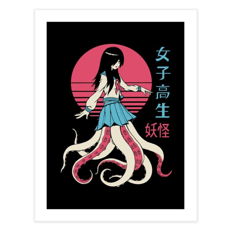 Yokai School Girl Home Fine Art Print by Vincent Trinidad Art