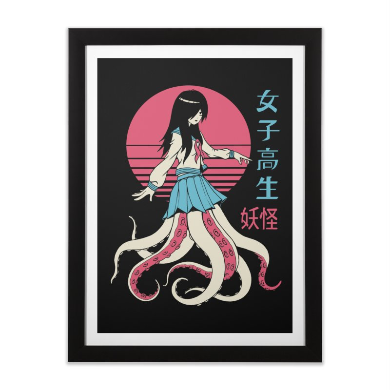 Yokai School Girl Home Framed Fine Art Print by Vincent Trinidad