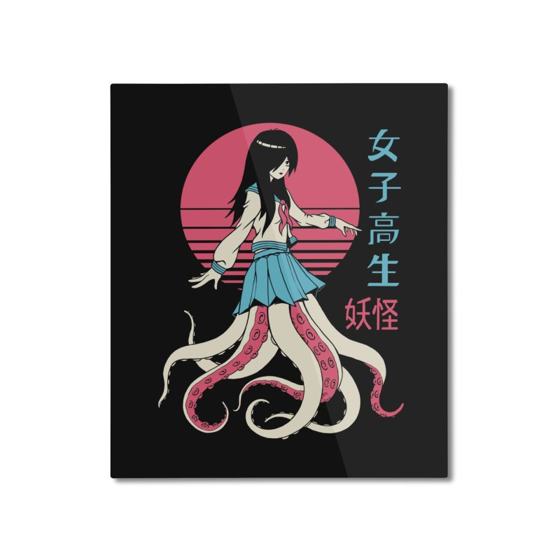 Yokai School Girl Home Mounted Aluminum Print by Vincent Trinidad