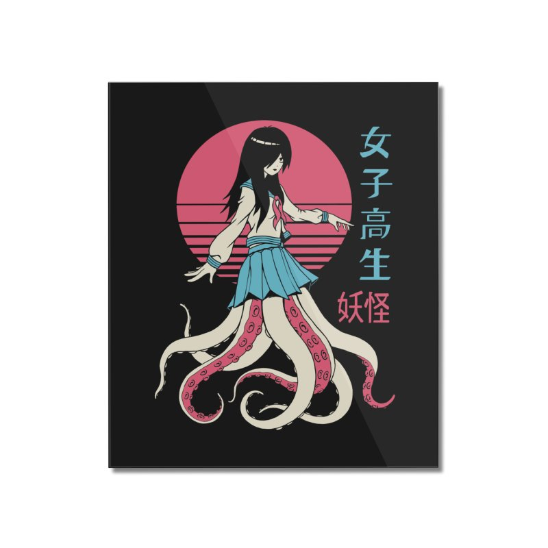 Yokai School Girl Home Mounted Acrylic Print by Vincent Trinidad