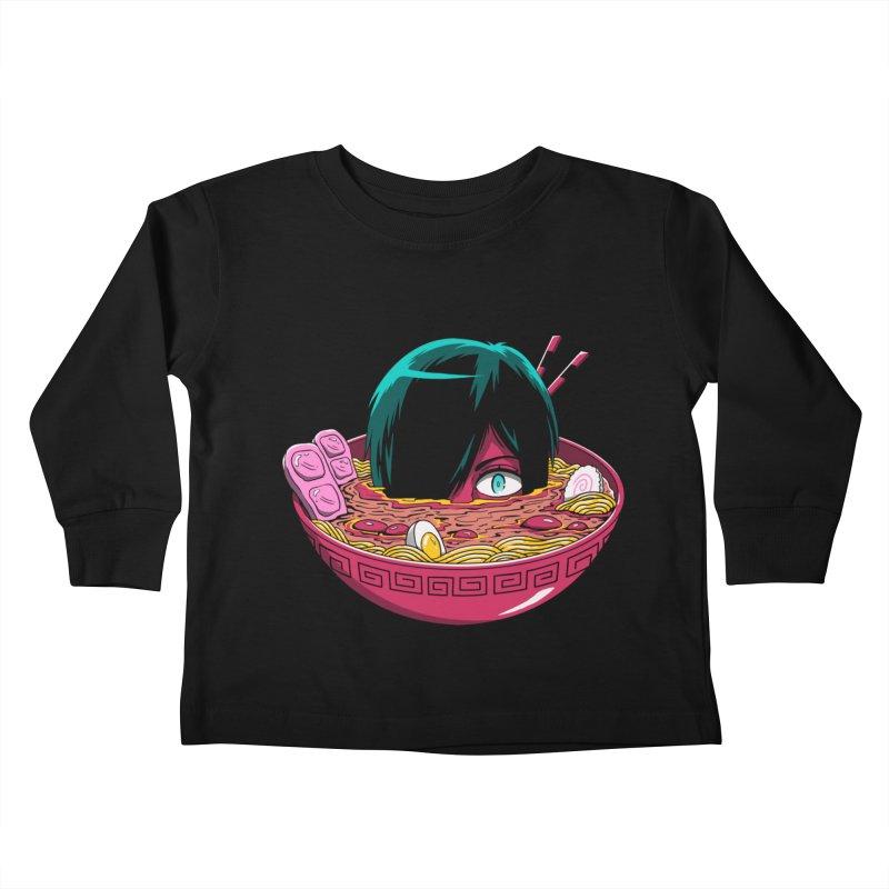Ramen Goryo Kids Toddler Longsleeve T-Shirt by Vincent Trinidad