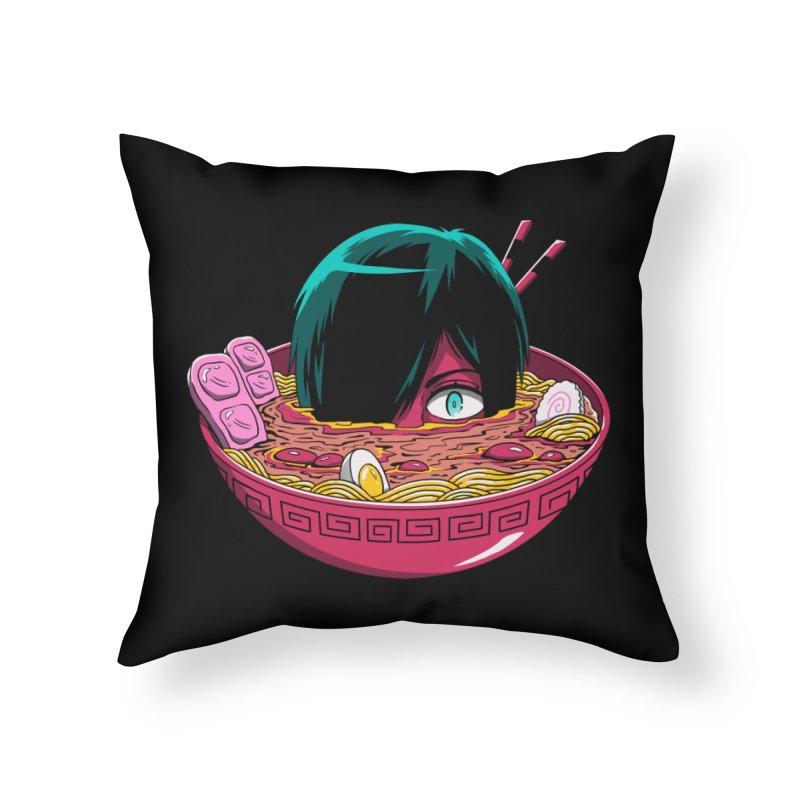 Ramen Goryo Home Throw Pillow by Vincent Trinidad