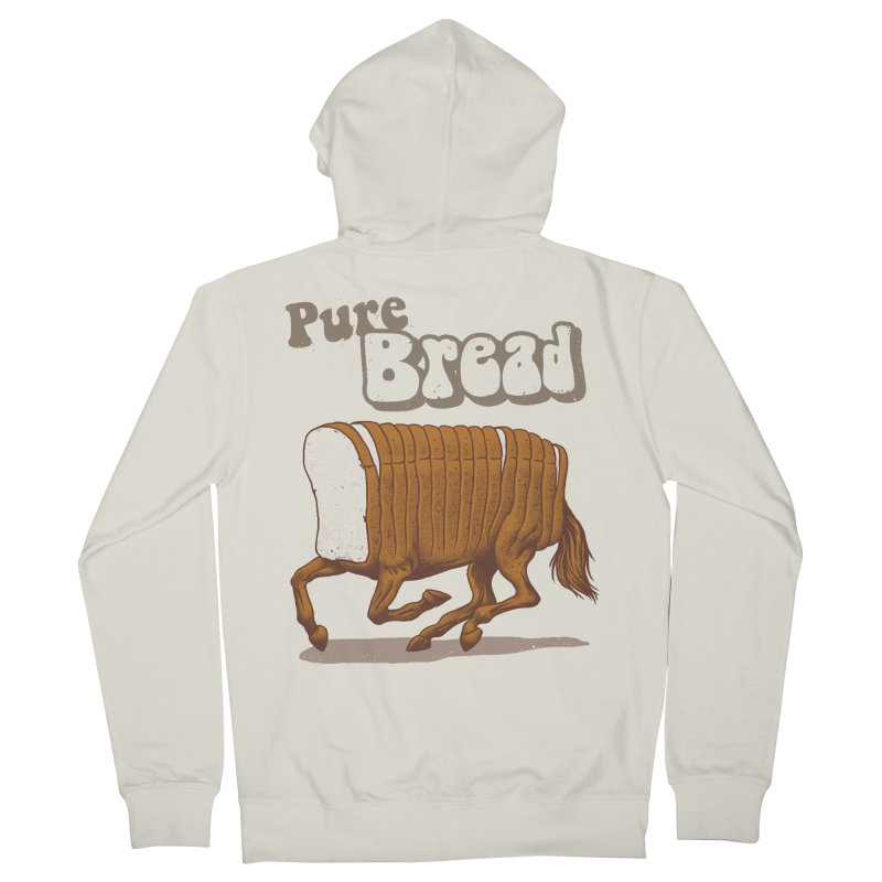 Pure Bread Men's French Terry Zip-Up Hoody by Vincent Trinidad Art