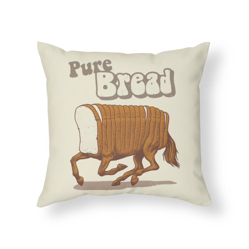 Pure Bread Home Throw Pillow by Vincent Trinidad