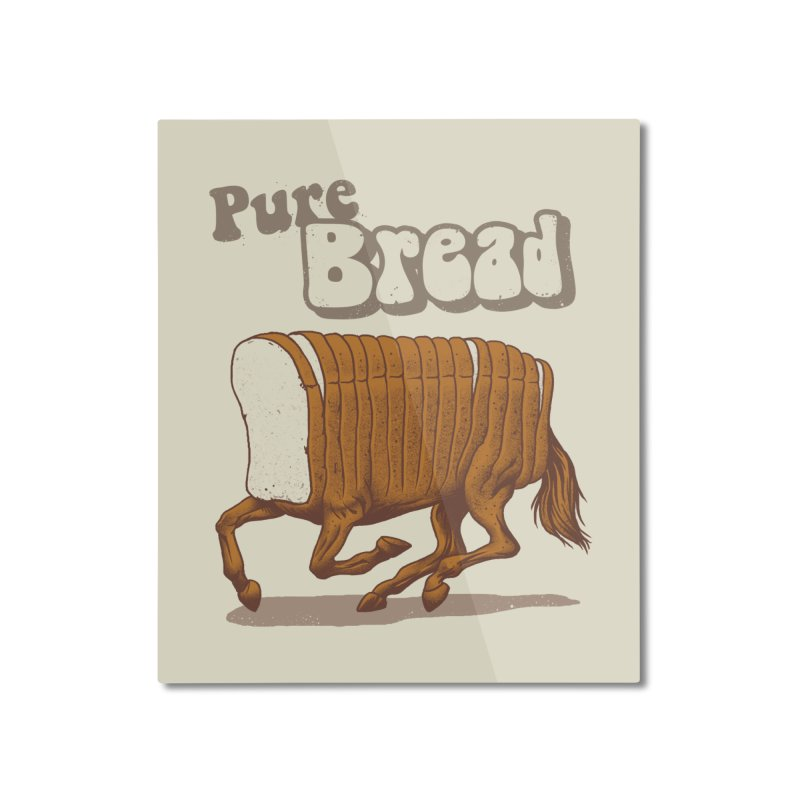 Pure Bread Home Mounted Aluminum Print by Vincent Trinidad