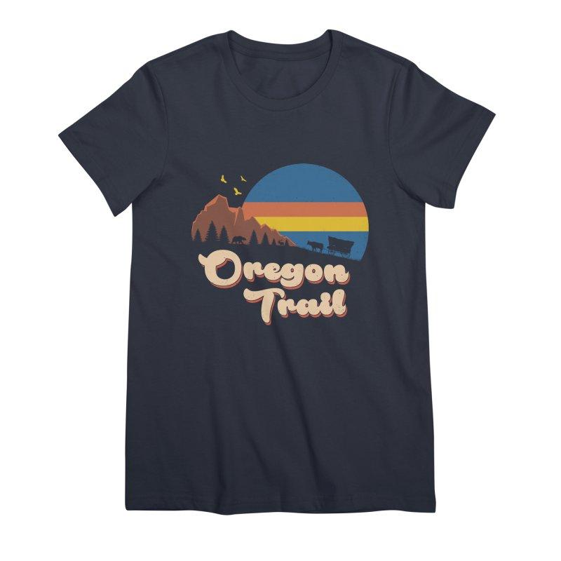 Retro Oregon Trail Women's Premium T-Shirt by Vincent Trinidad