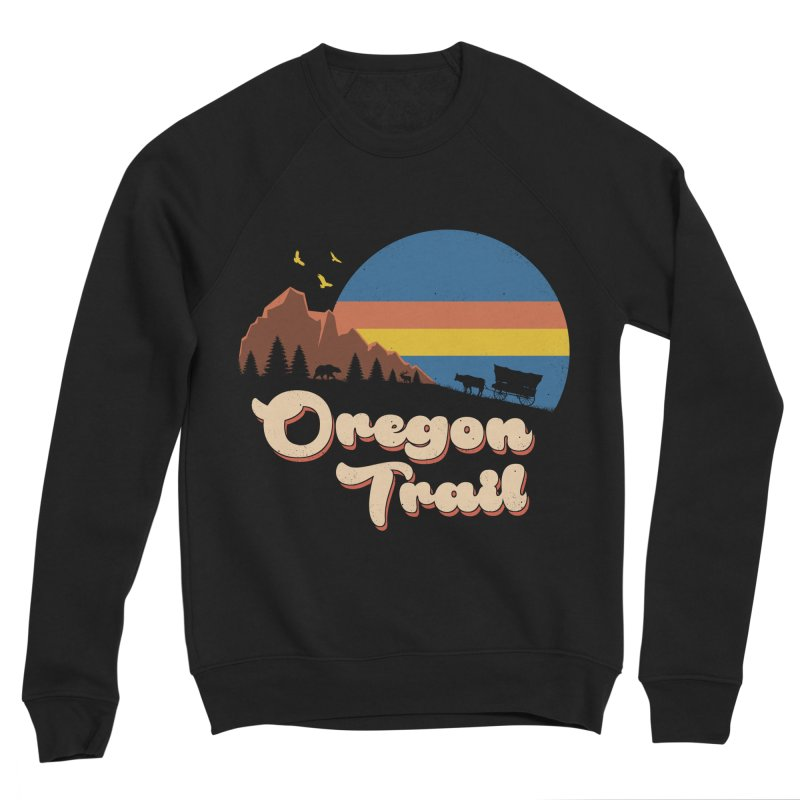 Retro Oregon Trail Women's Sponge Fleece Sweatshirt by Vincent Trinidad Art