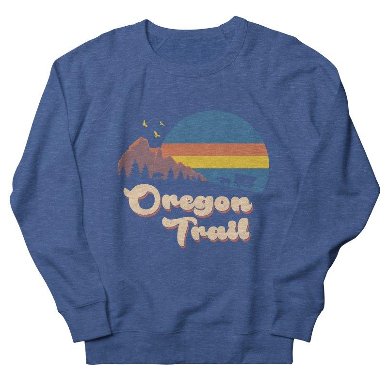 Retro Oregon Trail Men's French Terry Sweatshirt by Vincent Trinidad Art