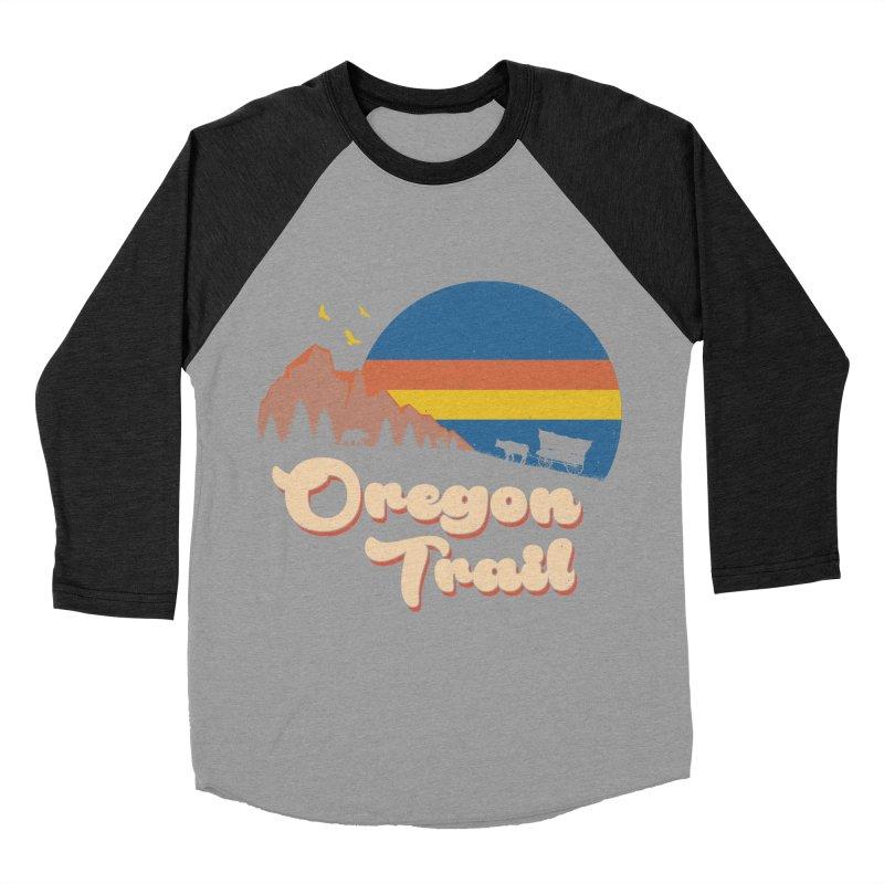 Retro Oregon Trail Women's Baseball Triblend Longsleeve T-Shirt by Vincent Trinidad