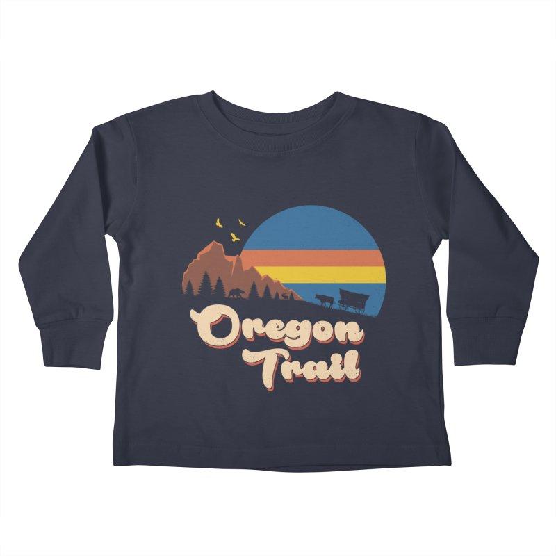 Retro Oregon Trail Kids Toddler Longsleeve T-Shirt by Vincent Trinidad