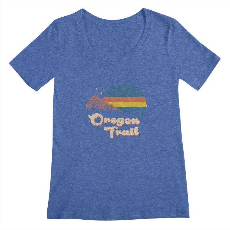 Retro Oregon Trail Women's Regular Scoop Neck by Vincent Trinidad