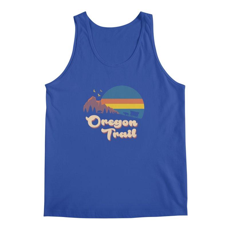 Retro Oregon Trail Men's Regular Tank by Vincent Trinidad Art
