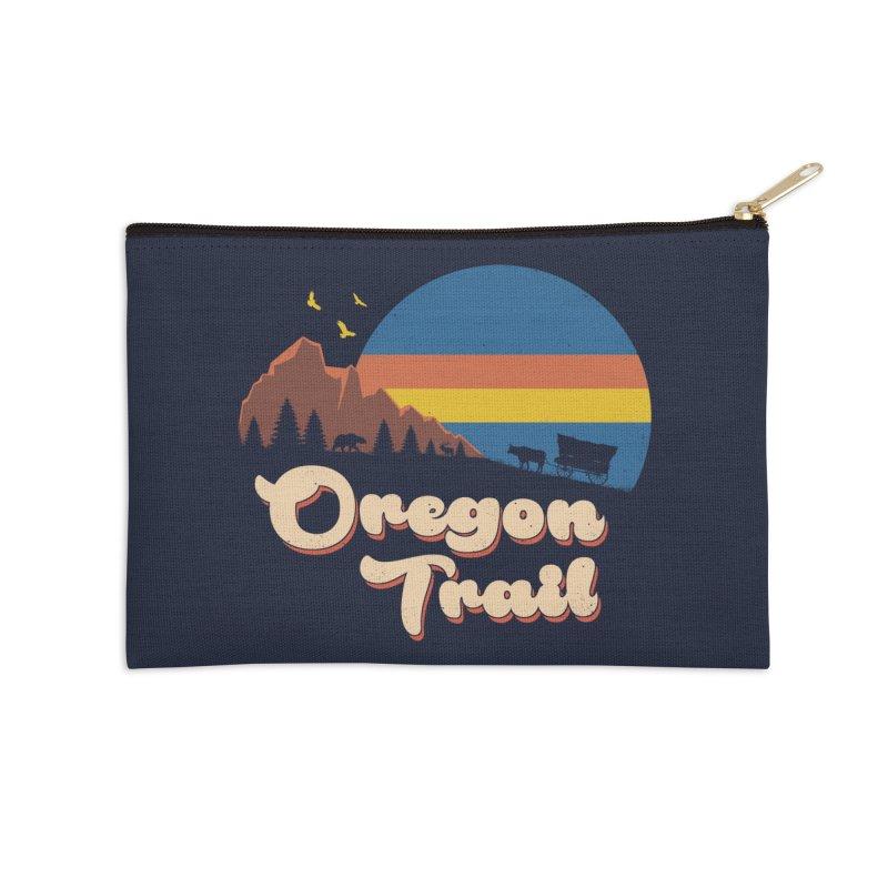 Retro Oregon Trail Accessories Zip Pouch by Vincent Trinidad