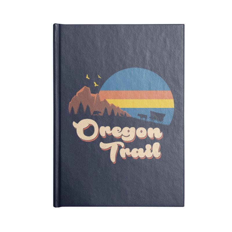 Retro Oregon Trail Accessories Blank Journal Notebook by Vincent Trinidad