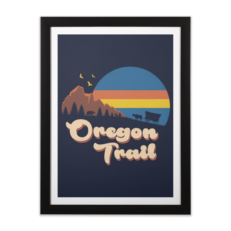 Retro Oregon Trail Home Framed Fine Art Print by Vincent Trinidad