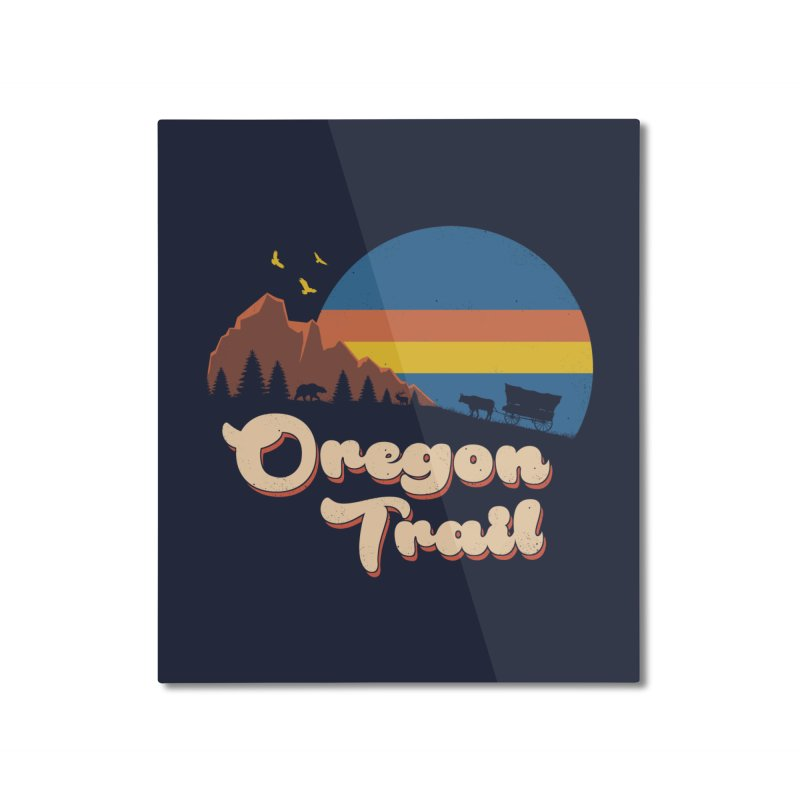 Retro Oregon Trail Home Mounted Aluminum Print by Vincent Trinidad