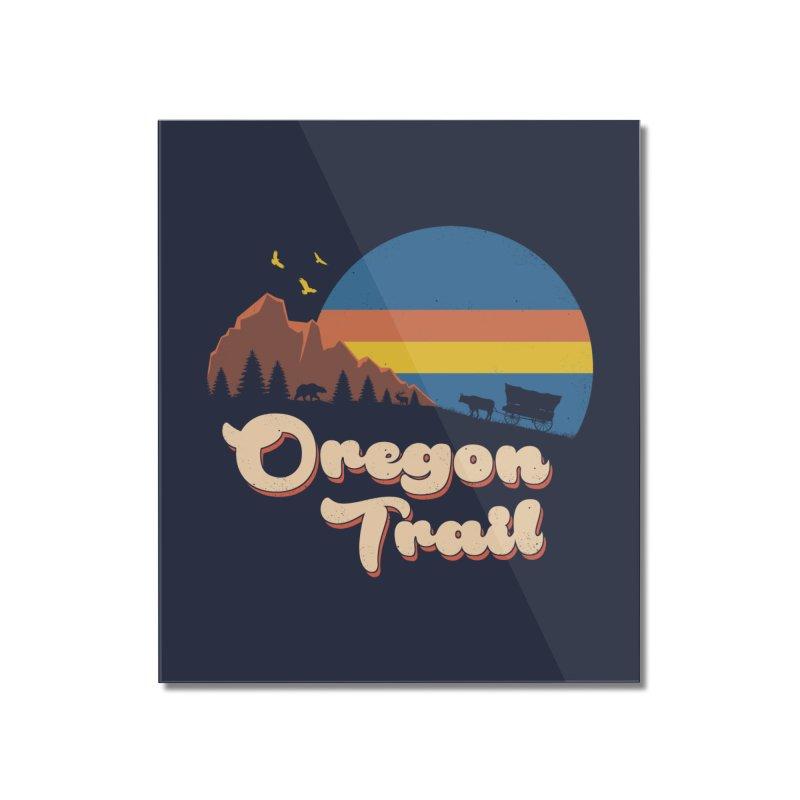 Retro Oregon Trail Home Mounted Acrylic Print by Vincent Trinidad