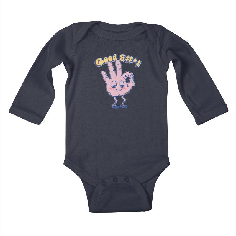 Good Sh#t Kids Baby Longsleeve Bodysuit by Vincent Trinidad
