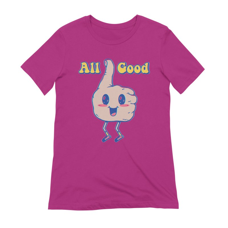 It's All Good Women's Extra Soft T-Shirt by Vincent Trinidad Art