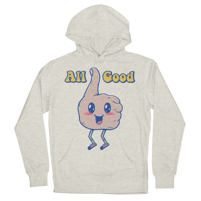 It's All Good Men's French Terry Pullover Hoody by Vincent Trinidad Art