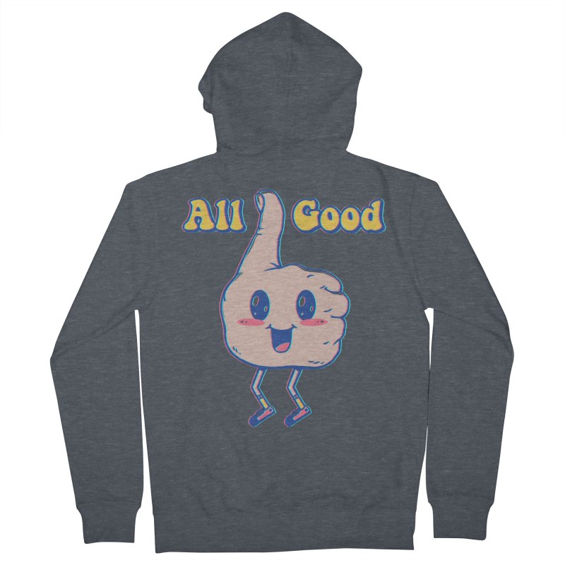 It's All Good Men's French Terry Zip-Up Hoody by Vincent Trinidad Art