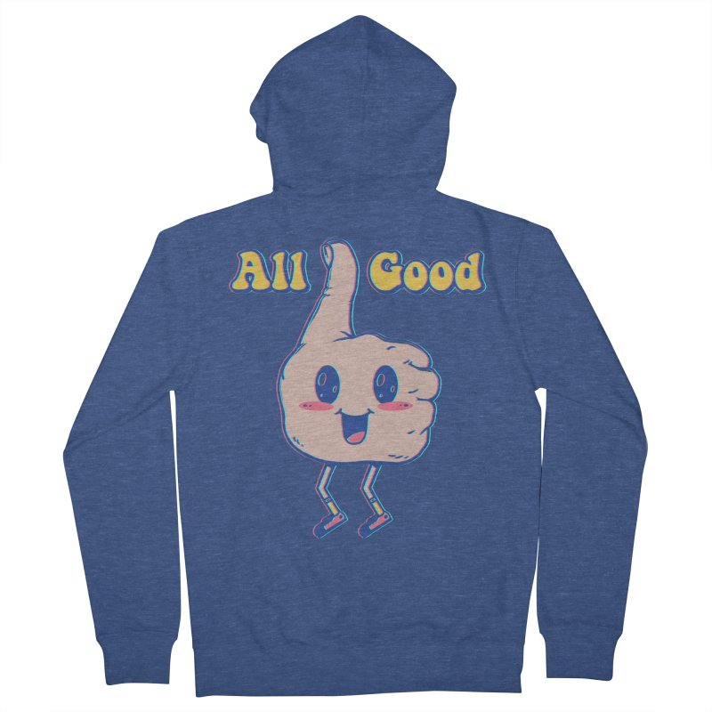 It's All Good Men's French Terry Zip-Up Hoody by Vincent Trinidad