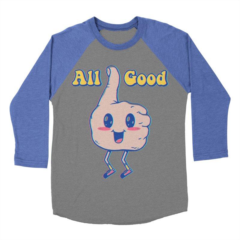 It's All Good Women's Baseball Triblend Longsleeve T-Shirt by Vincent Trinidad Art
