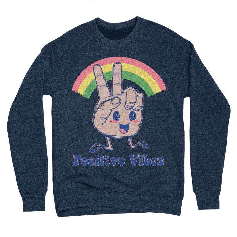 Positive Vibes Men's Sponge Fleece Sweatshirt by Vincent Trinidad