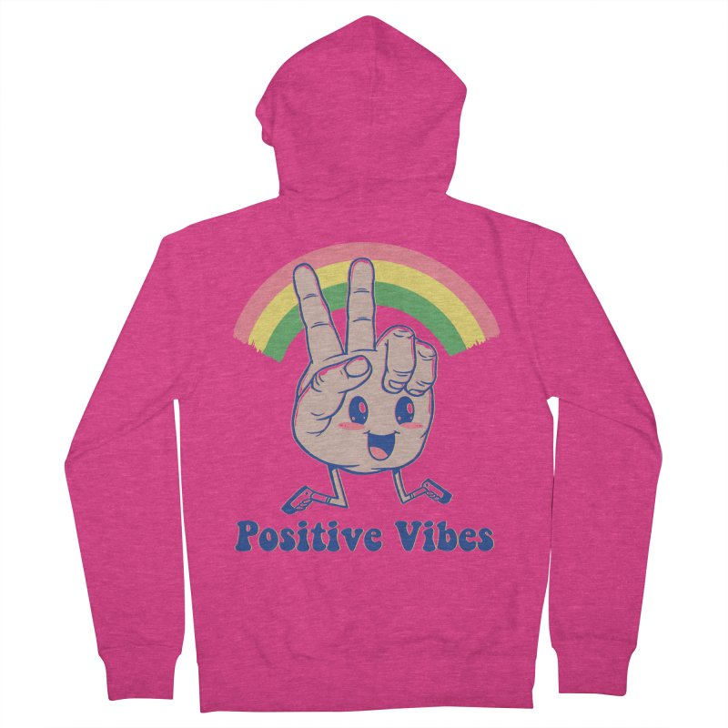 Positive Vibes Women's French Terry Zip-Up Hoody by Vincent Trinidad Art
