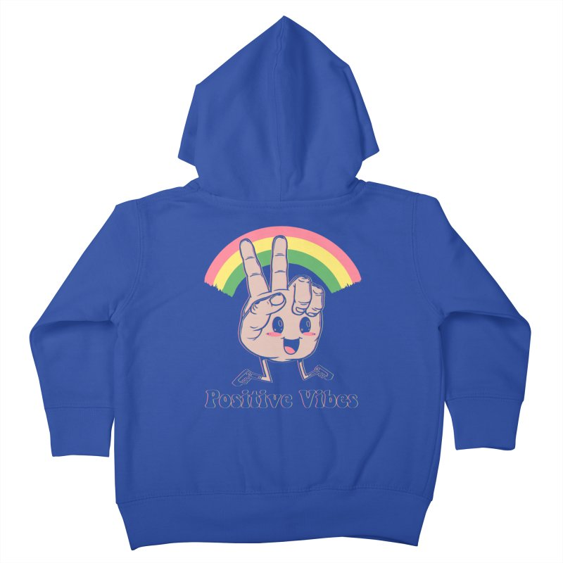 Positive Vibes Kids Toddler Zip-Up Hoody by Vincent Trinidad Art